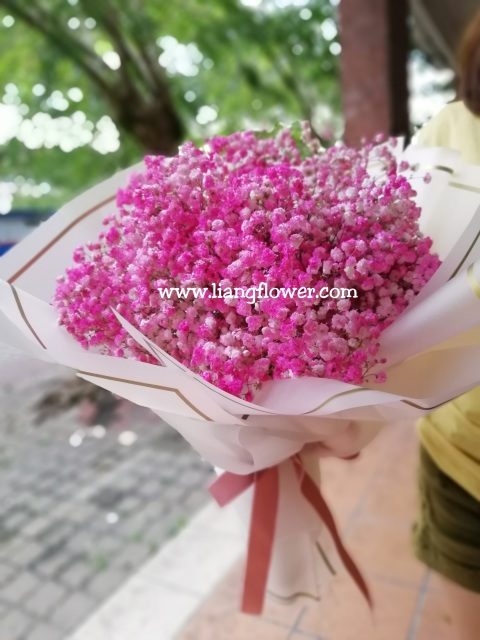 baby breath bouquet for birthday, graduation in Kampar, Perak